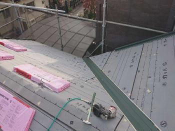 変換 ~ 入間市 屋根カバー 外壁塗装工事 屋根カバー防水紙、オークリッジ施工 (6).jpg