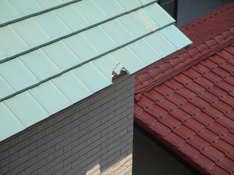 所沢市 タイル張り替え 屋根部分補修 リフォーム 施工前