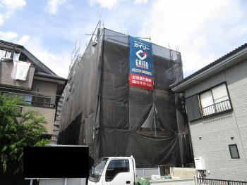 所沢市 外壁塗装 養生作業