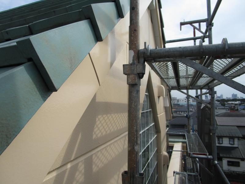 所沢市 外壁タイル 剥落防止工事 塗装工事 屋根補修 施工後2