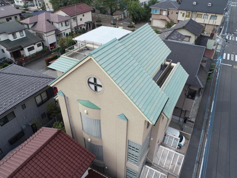 所沢市 外壁タイル 剥落防止工事 塗装工事 屋根補修 施工後3